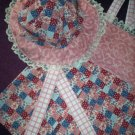 toddler halter top with sunbonnet patchwork style fabric