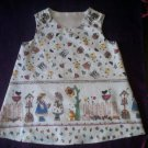 toddler country sundress sunbonnet sue  handmade size 2T