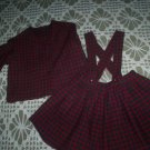 plaid skirt and blazer handcrafted dress