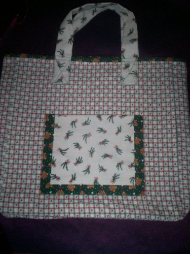 christmas treasure teddy bears tote bag reusable go green handcrafted bag