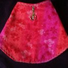 wild rose and lavender puppy jacket size small handcrafted