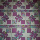 lavender baby wrap handmade quilt size 41 inches long x 37 inches wide handcrafted