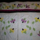 black eye susan yellow and lavender window curtains 2 panel with valance
