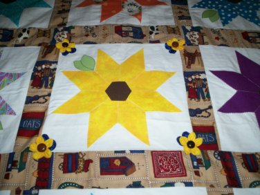 spring time in the park country quilt 55 x 46 inches handmade