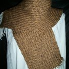 two tone brown adult knitted winter scarf handmade
