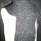 gray and black adult knitted winter scarf handmade