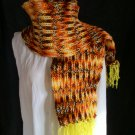multi color hat and scarf set adult knitted winter scarf handmade