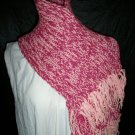 wild rose and powder pink hat and scarf set adult knitted winter scarf handmade