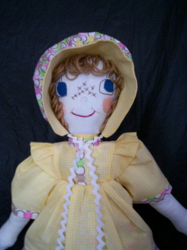 prairie cloth doll one of a kind 22 inches tall non allergenic polyester fiber stuffing