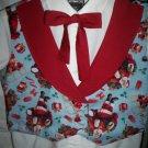 vest tie combo set boy Christmas Santa handmade size medium