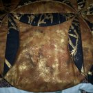 handmade circle quilt throw or lap black and gold 60 x 46 less than traditional