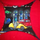 handmade circle quilt throw flannel vintage cars less than traditional