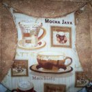 handmade circle quilt lap or throw coffee lovers delight 59 x 46 less than tradition