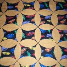 throw quilt multi color modern cars on black with tan flannel 62 x 46
