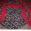 circle throw lap quilt black and red 61 x 46 less than tradition