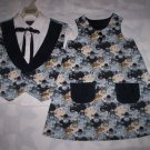 brother sister matching outfit lambs black lining handmade