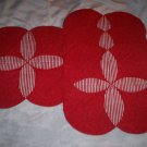 place matts set of 4 peppermint 12 x 12 hand created table matts