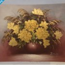 Gracious Gold Floral Painting 10 1/2 X 9