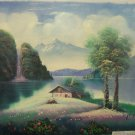"""Original Oil Painting on Canvas by Tom Herr """"Cottage Spring Collection"""""""