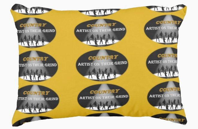 """COUNTRY Artist On Their Grind Pillow 16"""" x 12"""" Accent Pillow"""