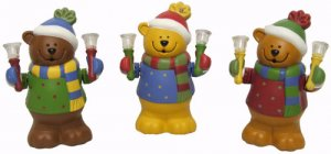 Avon© - Holiday Bear Bell Band Trio - New