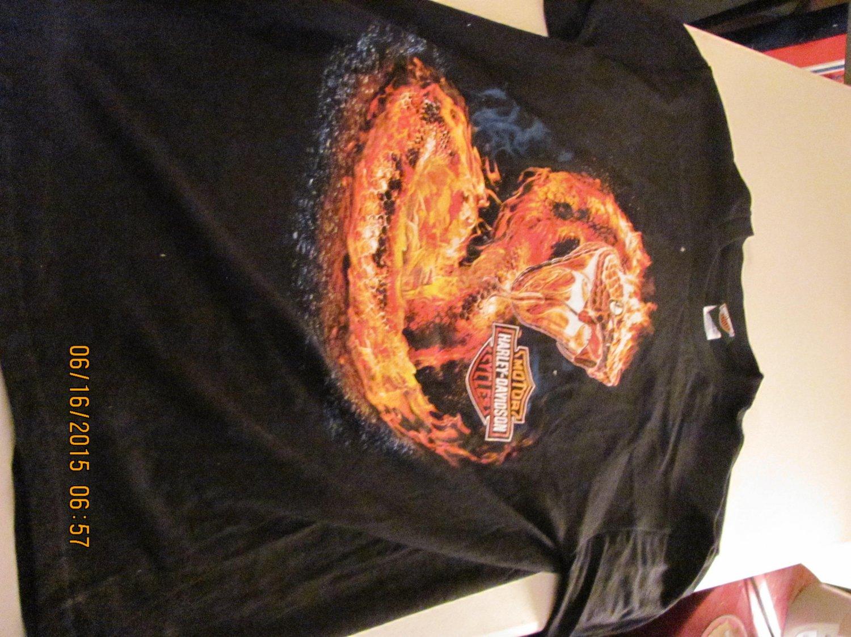 Men's Harley Davidson flaming cobra large T-shirt