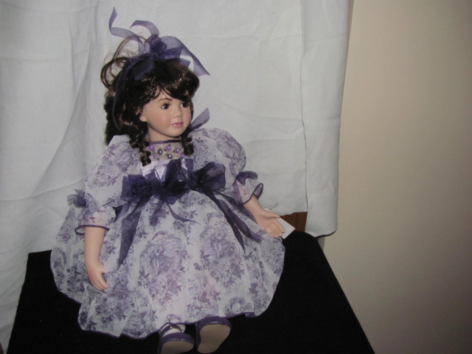 """Marie"" Lavender Rose Musical Porcelain Doll by Marie Osmond"