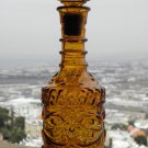 Amber Glass Liqour Bottle / Decanter with Stopper Excellent Collectible RARE