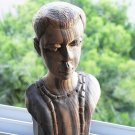 Vintage African Carved Lovely Rosewood Sculpture Statue Man Bust Collectible