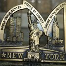 New York Bronze Color Souvenir Trade Center Statue of Liberty Empire Building