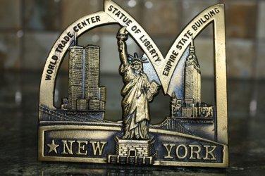New York Bronze Color Souvenir Trade Center Statue of Liberty Empire Building