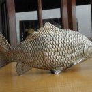 METAL FISH, MENU, NAPKIN, LETTER, HOLDER, SILVER PLATED, MADE IN ITALY RARE