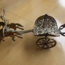 Vintage Greek Roman Horse Warrior Chariot Brass Wine Bottle Holder JERUSALEM