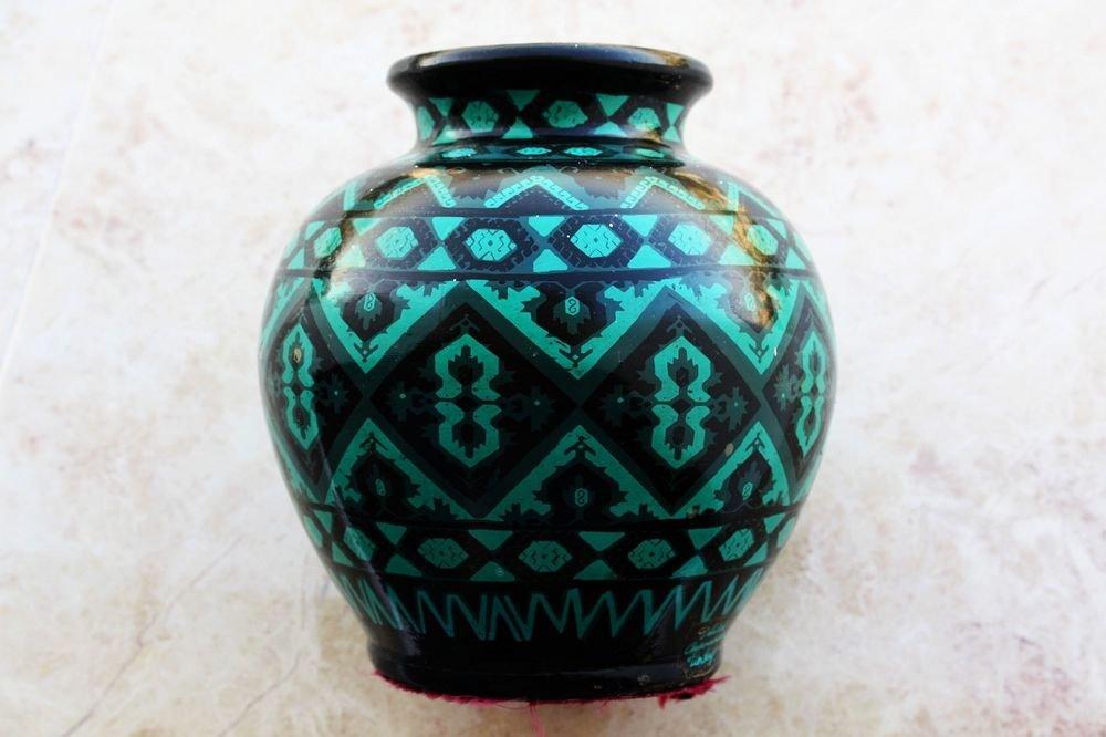 Outstanding Antique Cappadocia Turkey Ceramic Pottery Islamic Vase Hard to Find
