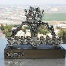 Judaica Vintage Hanukkah Jewish Gold Silver Plated Kav-Hen Menorah Israel rare