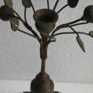 Vintage Old Mottahedeh Solid Brass Tree Candle Holder Rarest Candlestick Decor