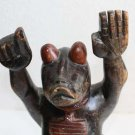 """Antique Hand Carved Wooden Rat Figurine Statue Sculpture Old Rare Gorgeous 13"""""""