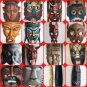 Mask Wood Hand Made Carved Vintage Collectible Home Decoration Wooden Rare Super
