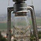 "VINTAGE GERMAN GLOBUS KEROSENE OIL RAILROAD LANTERN LAMP 17"" RUSTIC # 107"