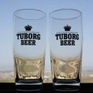 Pair of Vintage Tuborg Glasses by App. to The Royal Danish Court Collectible Box