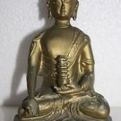 Vintage Very Old Budha Meditation Statue Resin Bronze Coloured Collectible 6""