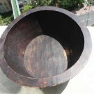 Antique Primitive Huge Hand Carved Wooden Bowl Decorative c.1890 Collectible 20""