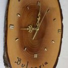 Vintage marvelous BULGARIA NESSEBAR natural wood wall clock Working Rare 17""