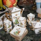 Tea Set Coffee Set CONDESSA BLUMENAU Porcelain Excellent 17pc Rare