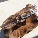 "Vtg Venini Tronchi Murano Hand Blown Glass Chandelier Sconce Triangle Prism 13"""