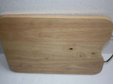 Vintage Chopping Cutting Board Butcher Block with Metal Handle 38x28cm