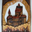 """Wooden Plaque Hand Carved Romania Brah Wall Hanging Collectible Home Decor 19"""""""
