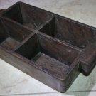Antique India Rosewood Spice Box Samruddhi Keralan Museum Quality 1890's Rarest