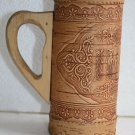 "Handmade Birch Bark Beer Stein Wooden Mug Cup 7"" Home Bar Decor"