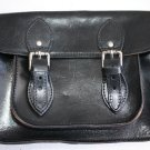 Vintage Vera Pelle Italy Genuine Thick Leather Bag Messenger Borse in Pelle
